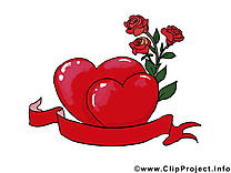 Rose cliparts - Saint-Valentin carte jolie