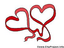 Saint-Valentin clip art – Coeurs image gratuite