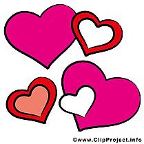 Saint-Valentin clip arts gratuits - Coeurs illustrations