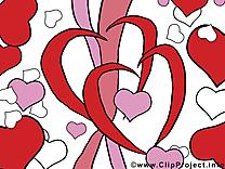 Saint-Valentin dessin gratuit - Coeurs image