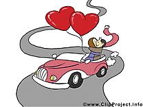 Voiture images – Saint-Valentin clipart gratuit