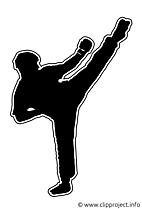 Kickboxer dessins - Silhouette clipart gratuit