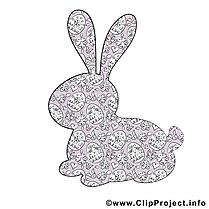 Silhouette lapin images gratuites – Pâques clipart
