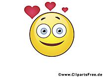 Amoureux émoticône illustration gratuite