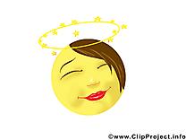 Ange émoticône illustrations gratuites