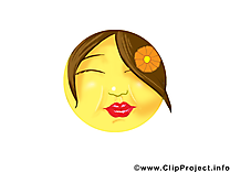 Bisou smiley cliparts gratuis