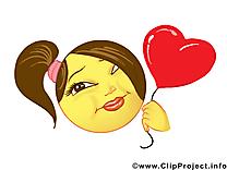 Coeur émoticône illustration gratuite