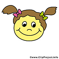 Fille smiley clipart gratuit