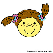 Fille smiley illustration gratuite