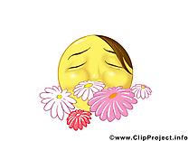 Fleurs smiley dessins gratuits