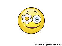 Fou smiley dessin à télécharger