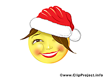 Noël smiley image gratuite