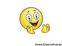 Ravi smiley clip art gratuit