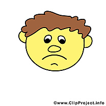 Smiley triste clipart gratuit