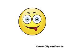 Tire langue émoticône dessins gratuits