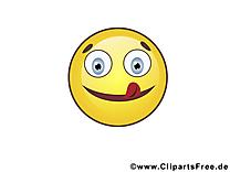 Tire langue émoticône illustration gratuite