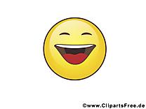 Trop drôle smiley image gratuite