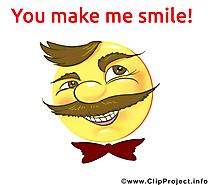 Tu me fais rire smiley dessin gratuit