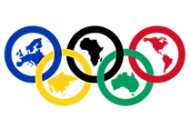 2021 Anneaux Olympiques avec Continents Signification Illustration PNG