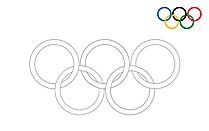 Anneaux olympiques 2021 pour imprimer et colorier des cliparts