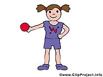 Balle dessin - Gymnastique cliparts à télécharger