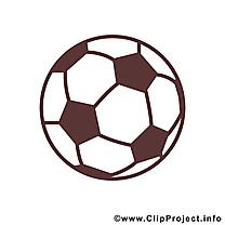 Ballon clip art – Football image gratuite