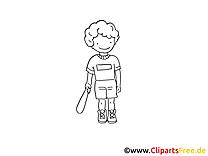 Base-ball cliparts gratuis à colorier