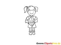 Basket-ball dessin à imprimer - Ballon clip arts