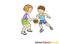 Basket-ball illustration à télécharger gratuite