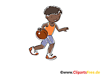Basket-ball image gratuite - Enfant balle illustration