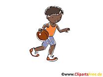 Basket-ball image gratuite - Enfant balle illustration