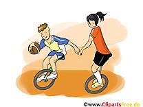 Basket-ball sur monocycle dessins gratuits