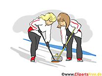 Curling images - sport clip art gratuit