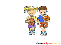 Enfants illustration - Basket-ball images gratuites
