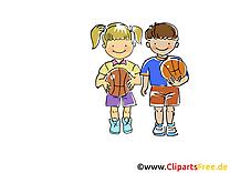 Enfants illustration - Basket-ball images gratuites