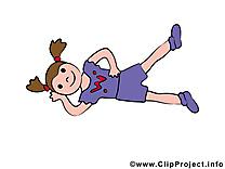 Fitness image gratuite - Gymnaste cliparts