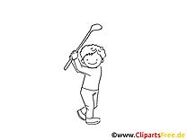 Golf coloriage - Balle de golf cliparts gratuits
