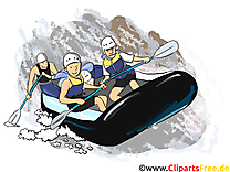 Kayak illustration - Nage images gratuites