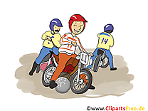 Motoball clip arts gratuits illustrations