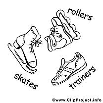 Patins clip art gratuit - Chaussures de sport dessin