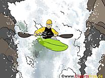 Périssoire illustration gratuite - Nage clipart