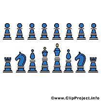 Pièces d'échecs dessin gratuit à télécharger