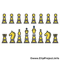Pièces d'échecs illustration à télécharger gratuite