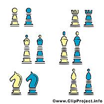 Pièces d'échecs images clip art gratuit