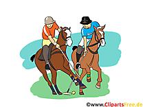 Polo image à télécharger - chevaux clipart