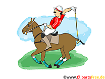 Polo image gratuite - Cheval cliparts