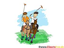 Polo images - chevaux clip art gratuit