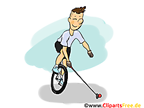 Polo sur monocycles illustration gratuite