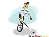 Polo sur monocycles illustration gratuite