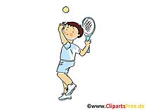 Tennis clip arts gratuits - Badmington illustrations